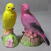 Bright Colored Birds Salt and Pepper Shakers
