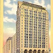Postcard of the Santa Fe Building in Dallas Texas