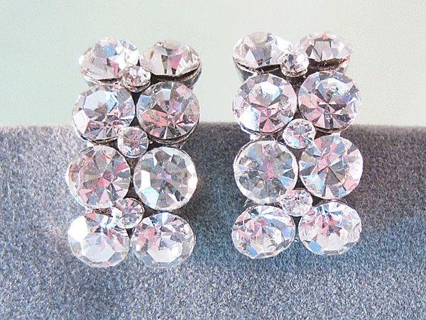 Petite Clear Rhinestone Earrings