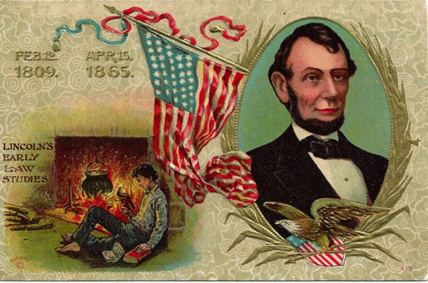 Abraham Lincoln Commemorative Postcard