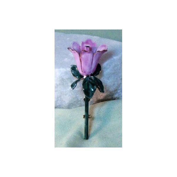 Sandor Pretty Pink Enamel Flower Pin