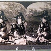 Keystone Stereo View of Native Hula Girls near Honolulu, Territory of Hawaii