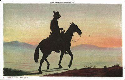 Silhouette Postcard Entitled The Ranger