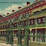 Postcard of Pontalba Apartments in New Orleans Louisiana