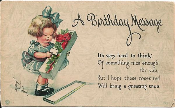 C. Twelvetrees Birthday Postcard