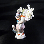 Sweet Little German Girl Figurine Vase