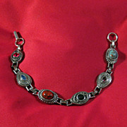 Sara Coventry Silver-tone Bracelet with Various Colored Stones
