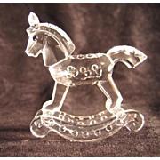 Retired Swarovski Crystal Rocking Horse Figure