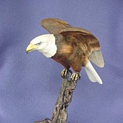 1985 Royal Worcester Bald Eagle Figure