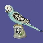 Vintage Keramos Wein Blue Budgie Figure