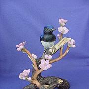 1984 Arthur Singer Audubon Japanese Blue Flycatcher Figurine