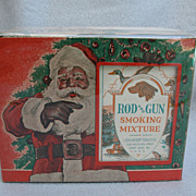 Vintage Rod and Gun Smoking Mixture Store Display w/ Santa Claus