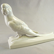 Early 1900's Schwarzburger Budgie / Parakeet Figurine from Germany