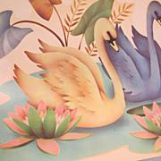 Large Meyercord Swan Decal Set