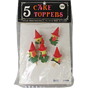 Vintage Duck Cake Toppers in Original Package