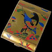 Brass Art Deco Bird Compact
