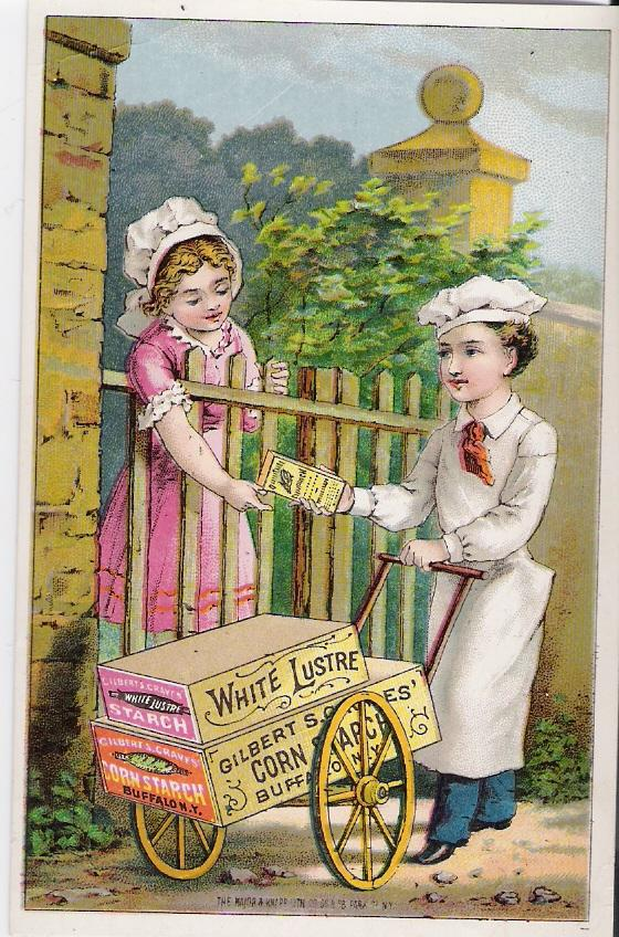 """White Lustre Corn Starch"" - Advertising Trade Card"
