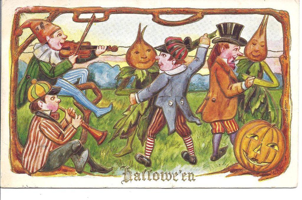 Hallowe'en - Vegetable People Dancing with Real People