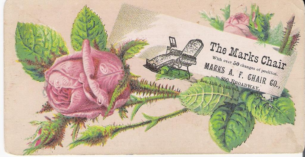 """The Marks Chair"" - Advertising Trade Card"