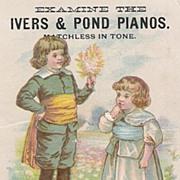 Ivers & Pond Pianos - Adv. Trade Card - Children