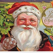 """A Blissful Christmas - Santa Claus - Postcard"