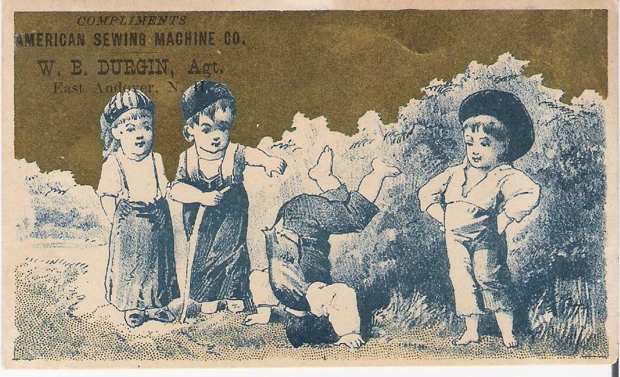 """American Sewing Machine Co.""  - Trade Card"