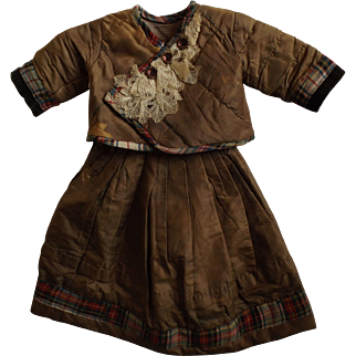 Old Doll's Two Piece Dress