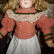 Wonderful antique wool and silk top for bisque doll