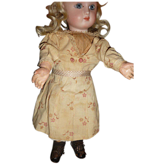 SALE Wonderful small size antique factory made doll dress