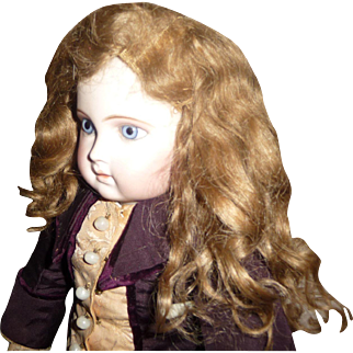 SALE Beautiful, thick, wavy antique doll wig for german or french doll