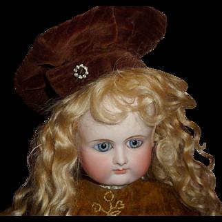Wonderful antique cor du roi beret style doll hat or bonnet