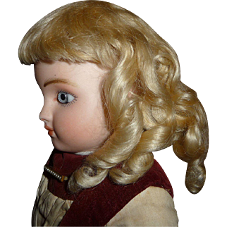 Gorgeous antique small size mohair doll wig