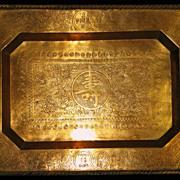 Chinese bronze gilded tray dragons Kuang Hsu