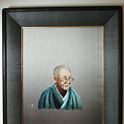 Japanese embroidery silk hand made portrait embroidery by famous UCHIDA ART