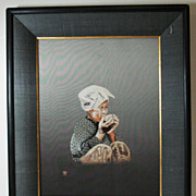 Japanese embroidery silk hand made portrait embroidery by famous UCHIDA ART #2
