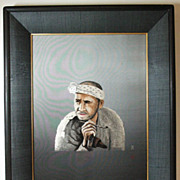 Japanese embroidery silk hand made portrait embroidery by famous UCHIDA ART #3