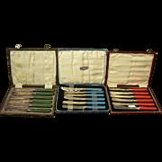 English Set of Bakelite Knives