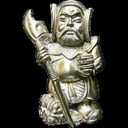 Japanese Sterling Silver Samurai Figurine