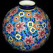 French Longwy Vase