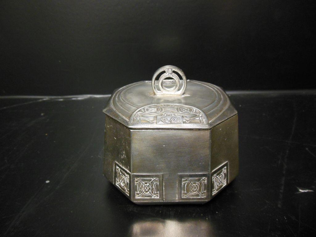 Arts & Crafts Movement Octagonal Metal Box - Austria
