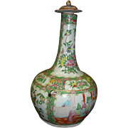 Japanese Rose Medallion Covered Wine Jug