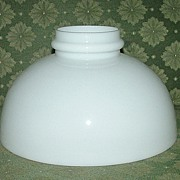 Original 10 inch Antique White Glass Shade with Fire-Finished Smooth Bottom Circa 1910.