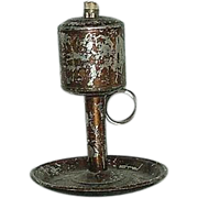 SOLD Patent Dated 1856 Tin Fat Lamp !