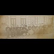 REDUCED Civil War Period, Unknown Coronet Band, Sidewalk Group Photo .