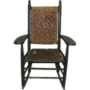 "REDUCED Child's Rocker ""Manufactured by L. J. Colony Keene,NH."" Stamped on Armrest C"