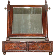 REDUCED Mint American Made Mahogany Veneered & Dovetail Shaving Mirror !