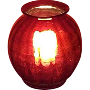Mint Ruby Red Swirl Glass Hanging Hall Oil Light Shade with Standard 4 inch Flange Lip & Straight Fitters !