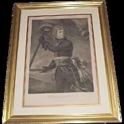 "Authentic 1796 Engraved Print of ""Napoleon Bonaparte on the Arcole Bridge Nov.17,1796"" by Master Engraver Joseph (Giuseppe) Longhi !!!"