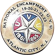REDUCED 44th National Encampment 1910 Civil War Veterans U.V.U. Dated Sept. 19,20,21,22,23. At