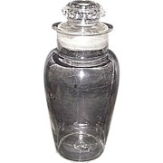 "REDUCED Urn Shaped ""Apothecary Show Jar""  2 part Blown Molded with a Molded Lid !  C"